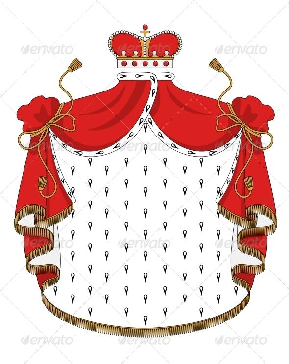 Heraldic Royal Mantle - Decorative Symbols Decorative