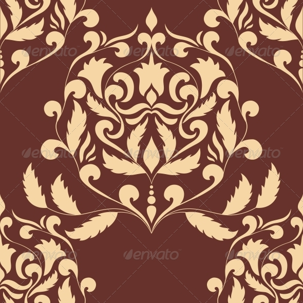Damask Seamless Pattern Element - Patterns Decorative