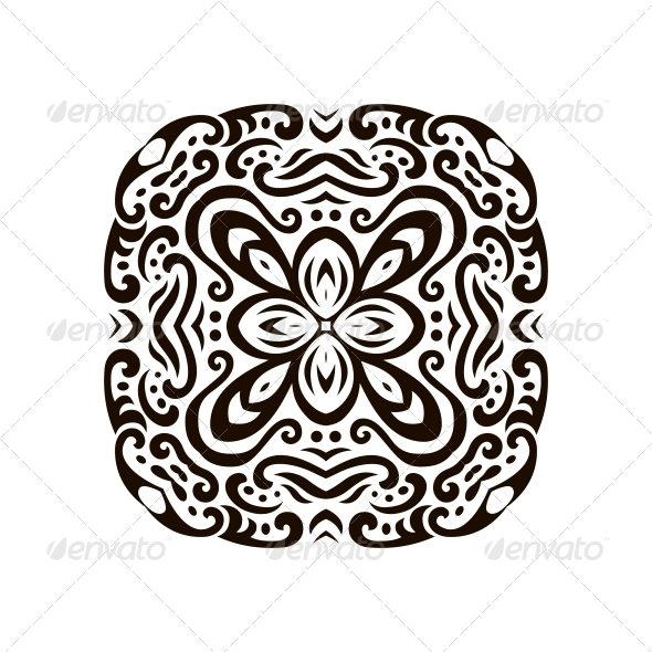 Abstract Vector Mehndi Tattoo Ornament - Flowers & Plants Nature