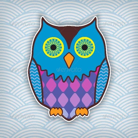Motley Owl - Animals Characters