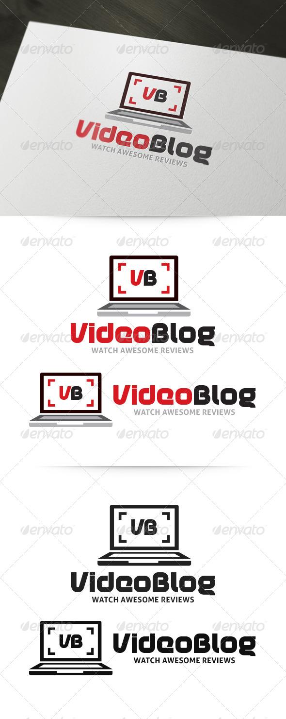 Video Blog - Laptop Logo - Objects Logo Templates