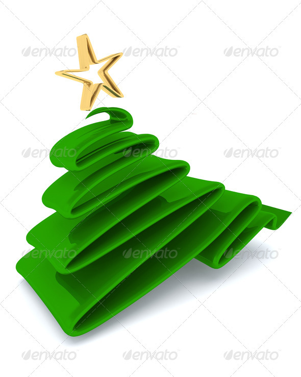 Scribble Sketch Christmas Tree Concept - 3D Backgrounds