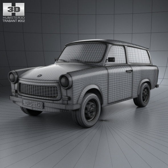 trabant 601 kombi 1965 by humster3d 3docean. Black Bedroom Furniture Sets. Home Design Ideas