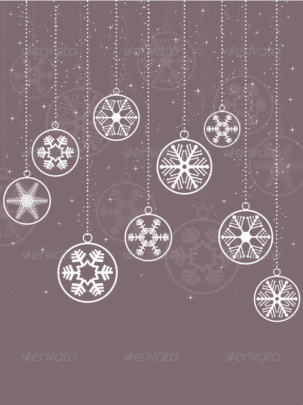 Decorative snowflake background - Christmas Seasons/Holidays