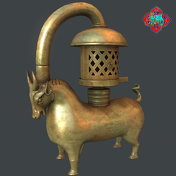 Bronze Bull lamp - 3DOcean Item for Sale