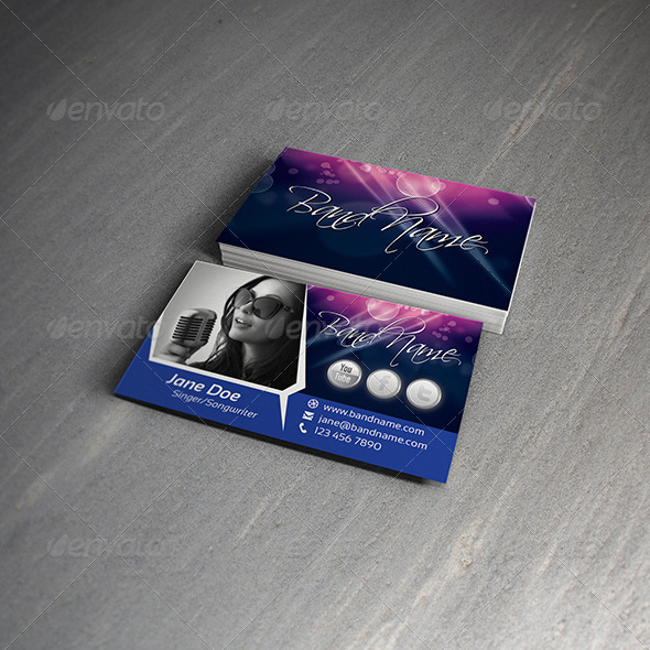 Singer Songwriter Business Card Template By Digital Age