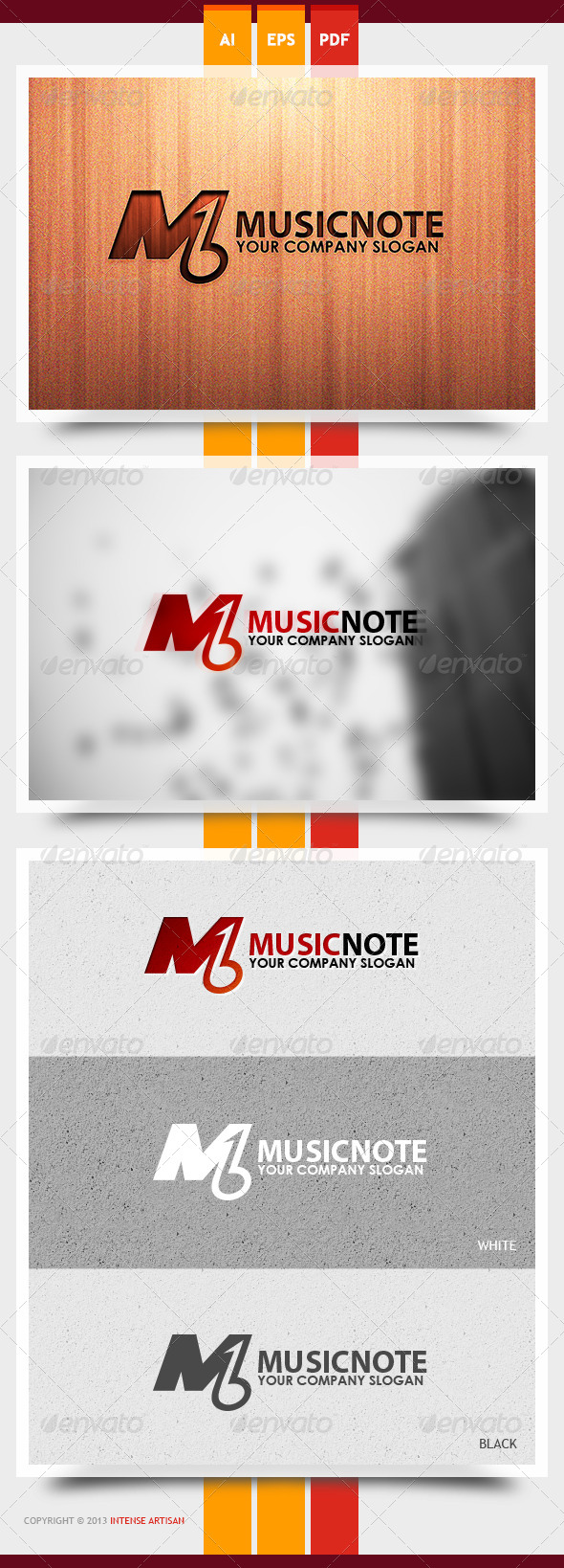 Music Note Logo Template - Objects Logo Templates