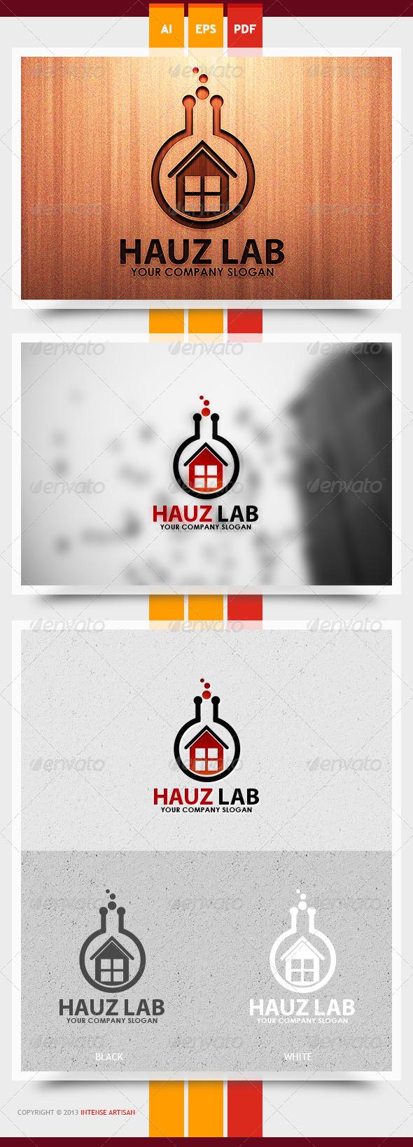 Hauz Lab Logo Template - Buildings Logo Templates
