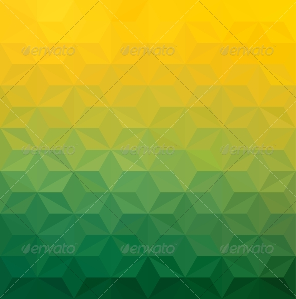 Abstract Green Yellow Triangle Background - Abstract Conceptual