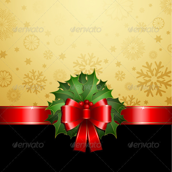 Christmas Holly Background - Christmas Seasons/Holidays