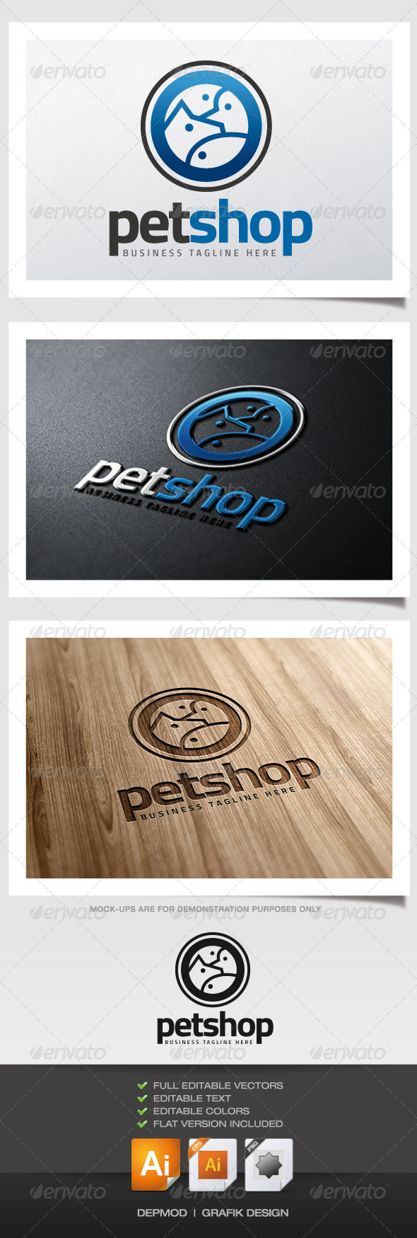 Pet Shop V.03 Logo - Animals Logo Templates