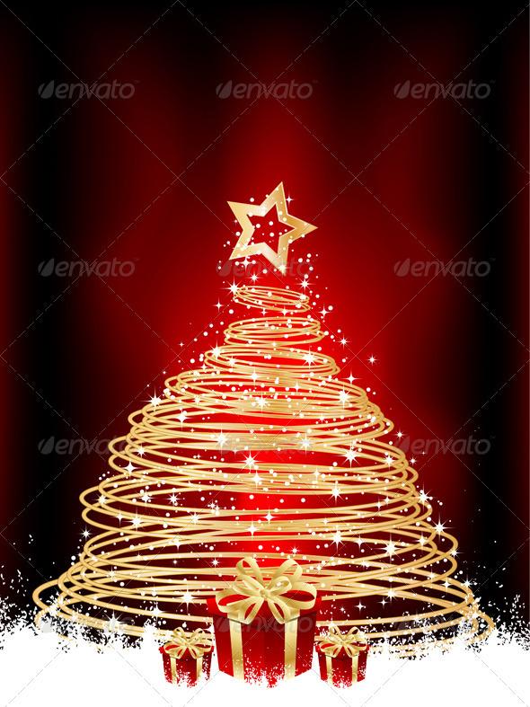 Christmas Tree and Gifts - Christmas Seasons/Holidays