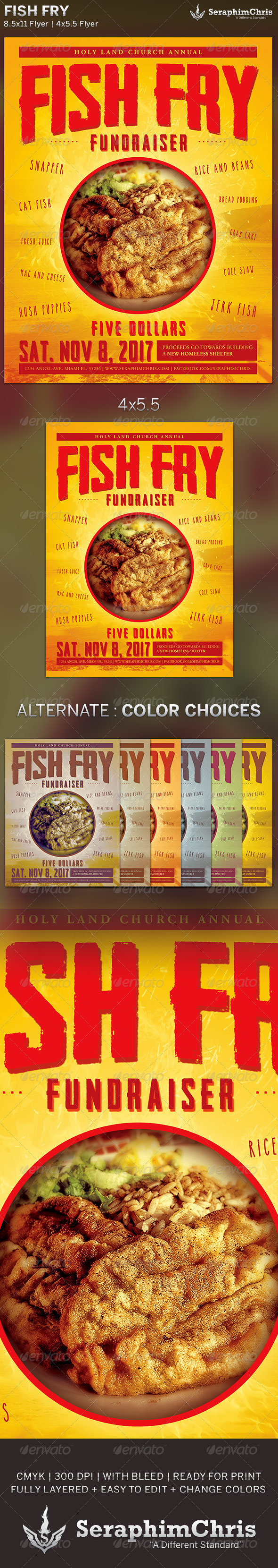 Fish Fry: Event Flyer Template - Events Flyers