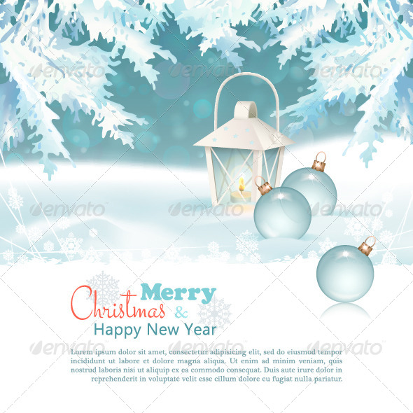 Merry Christmas & New Year Celebration Background - Christmas Seasons/Holidays
