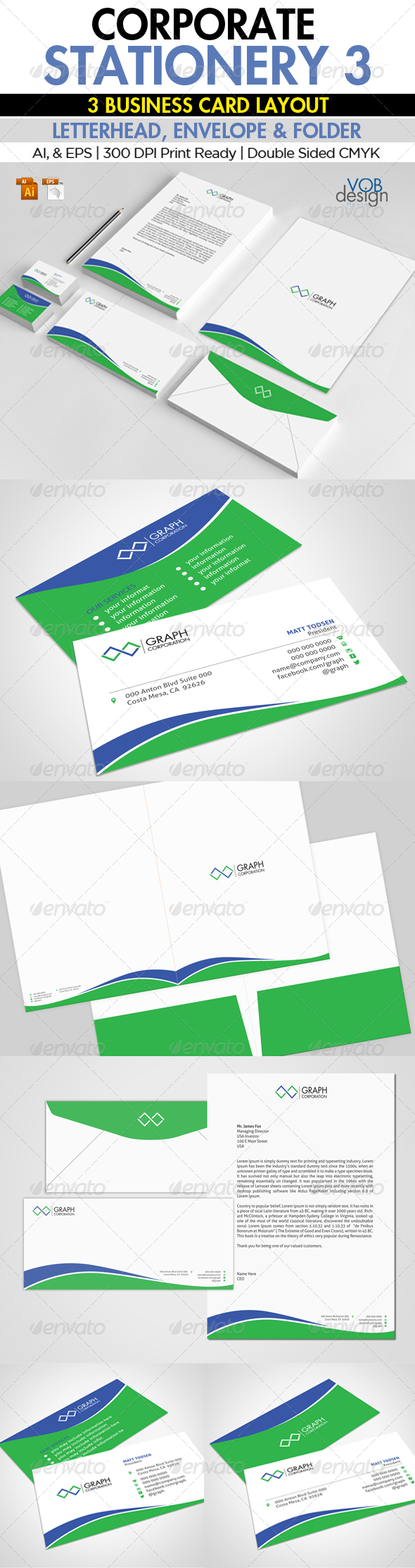 Corporate Stationery 3 - Stationery Print Templates
