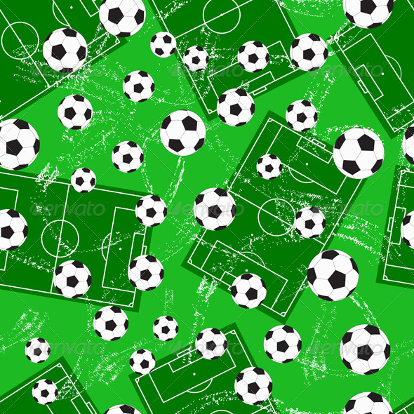 Background with Football Gate and Soccer Ball - Sports/Activity Conceptual