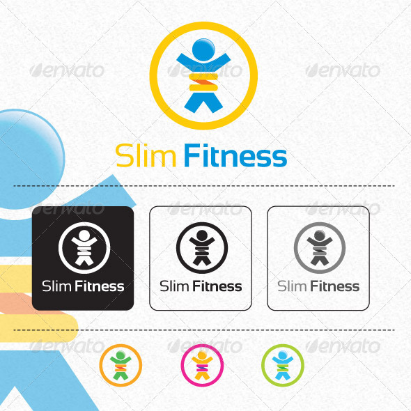 Slim Fitness Logo Template - Humans Logo Templates