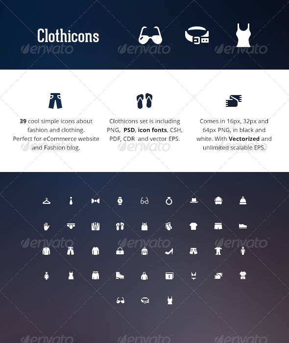 Clothicons - Fashion Icon Pack - Objects Icons