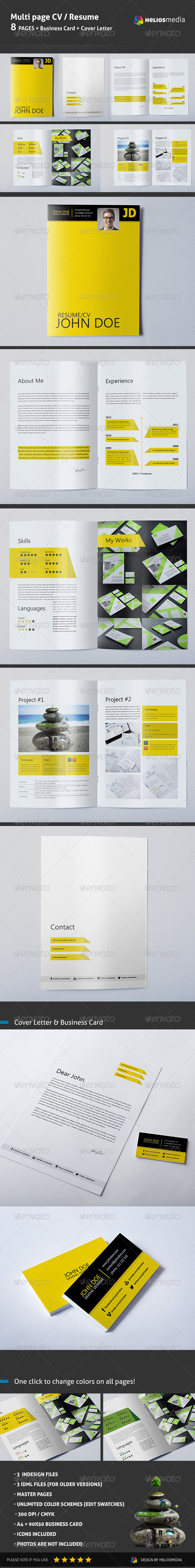 Multi Page Resume - Resumes Stationery