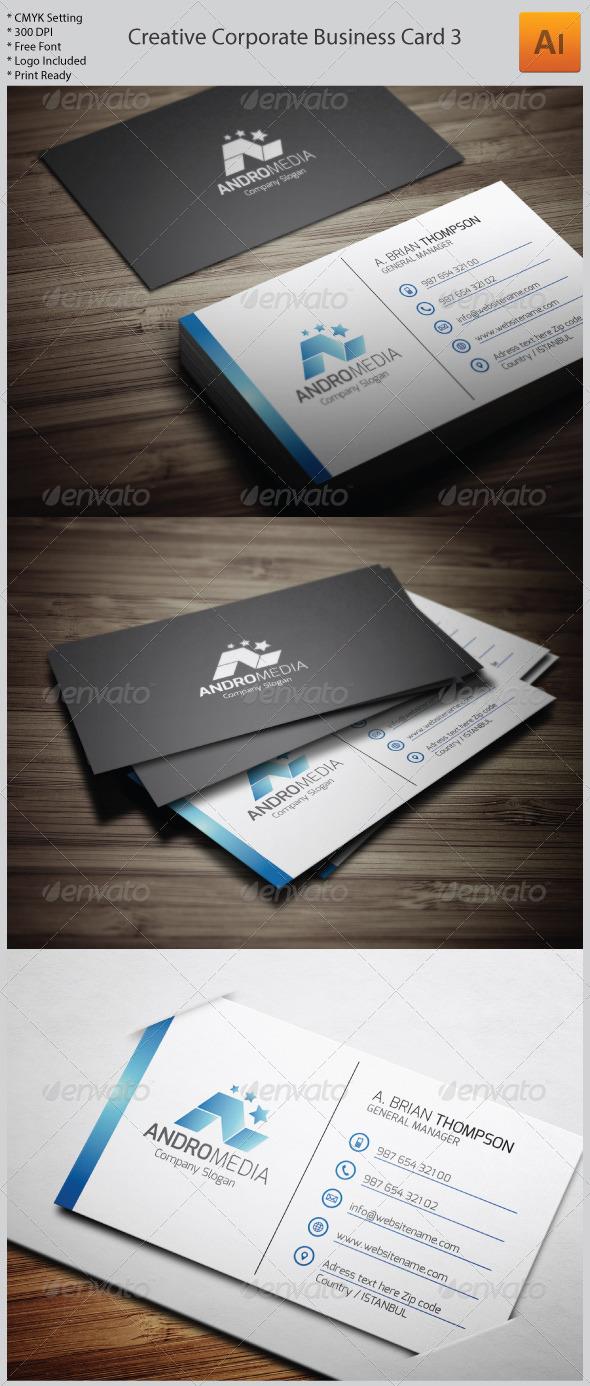 Creative Corporate Business Card 3 - Corporate Business Cards