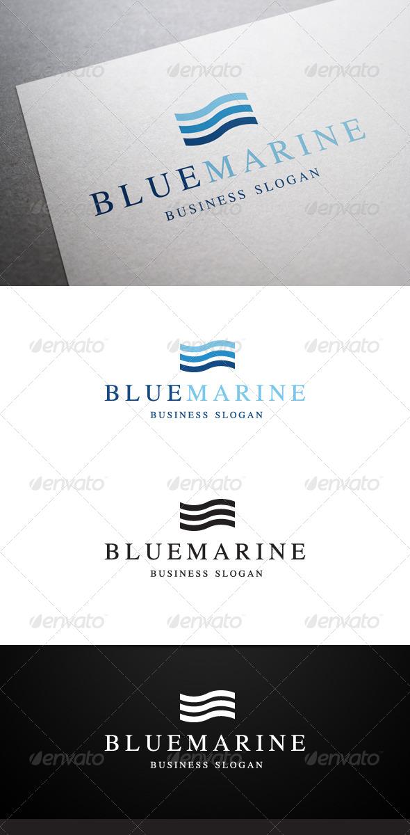 Blue Marine Logo - Abstract Logo Templates