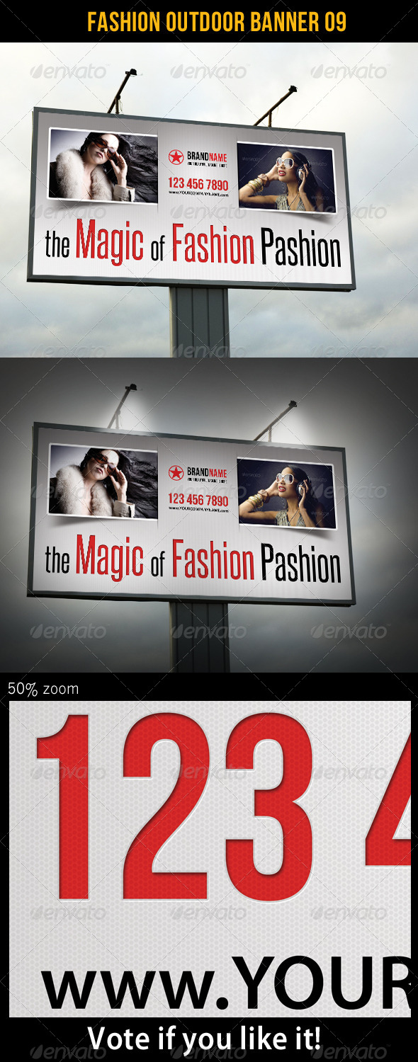 Fashion Outdoor Banner 09 - Signage Print Templates