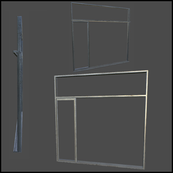 Metal Door Frame - 3DOcean Item for Sale