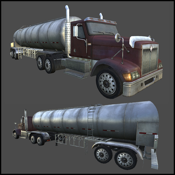 Water Tanker - 3DOcean Item for Sale