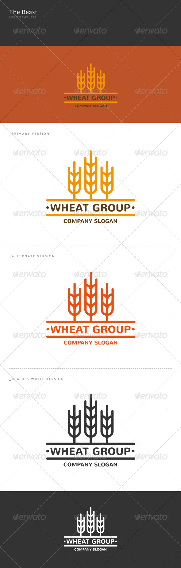 Wheat Group Logo - Nature Logo Templates