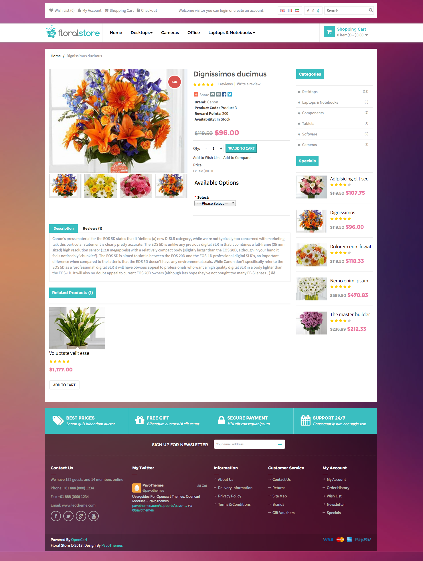 Pav Floral Responsive Opencart Theme By Pavothemes