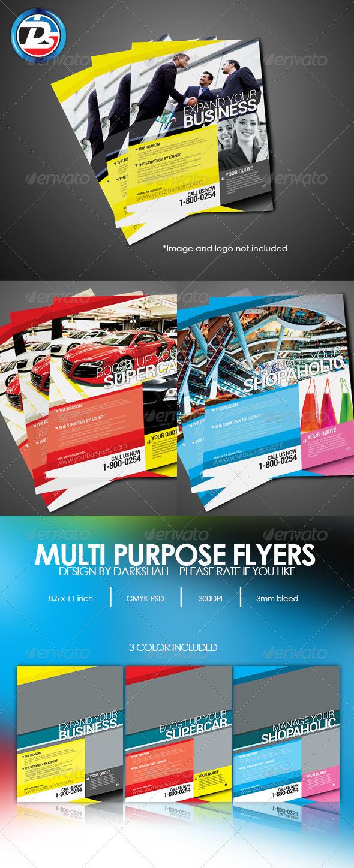 Modern Multi Purpose Corporate Flyers - Corporate Flyers