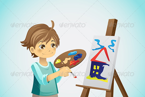 Painting Kid - Sports/Activity Conceptual