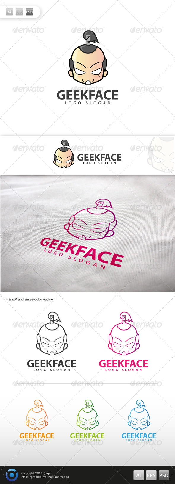 Geek Face Logo - 07