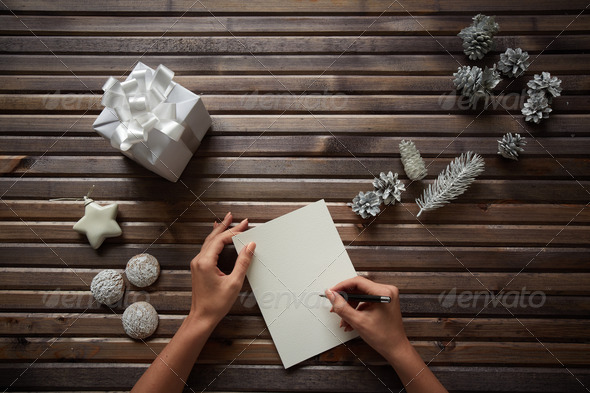 Christmas regards - Stock Photo - Images