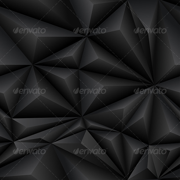 Black Abstract Polygon Background Tile - Abstract Conceptual
