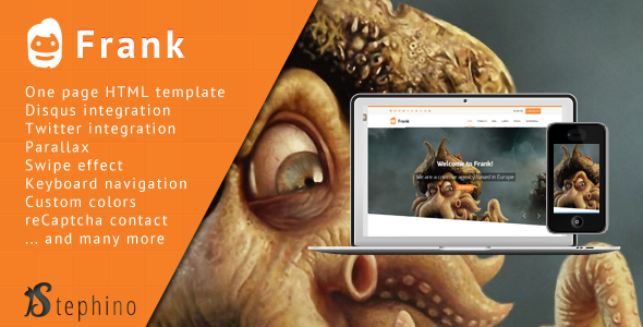 Frank - Responsive One Page HTML - Miscellaneous Site Templates