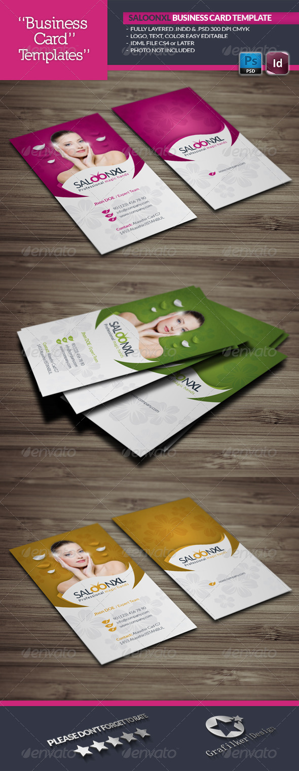 Saloon business card template by grafilker graphicriver saloon business card template business cards print templates reheart Image collections
