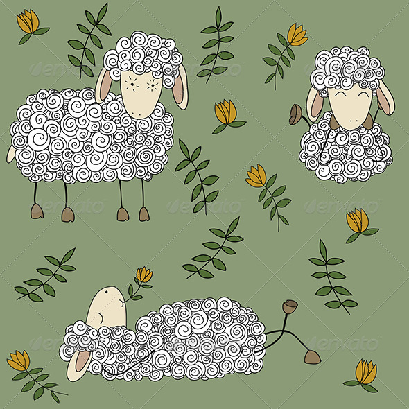 Sheep Set - Animals Characters