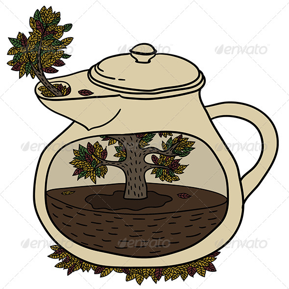 Autumn Teapot - Miscellaneous Conceptual