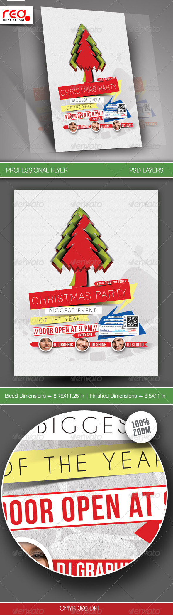 Christmas Party Flyer & Poster Template - Clubs & Parties Events