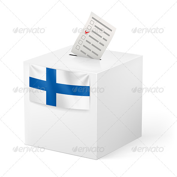 Ballot Box with Voicing Paper. Finland. - Man-made Objects Objects