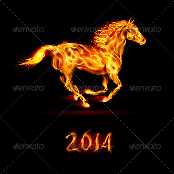 New Year 2014 Fire Horse - Miscellaneous Vectors