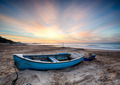 Fishing Boat at Sunrise - PhotoDune Item for Sale