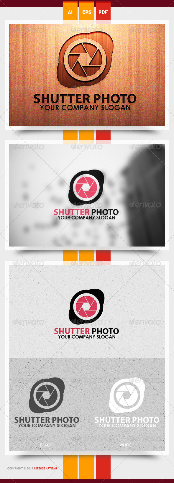 Shutter Photo Logo Template - Objects Logo Templates