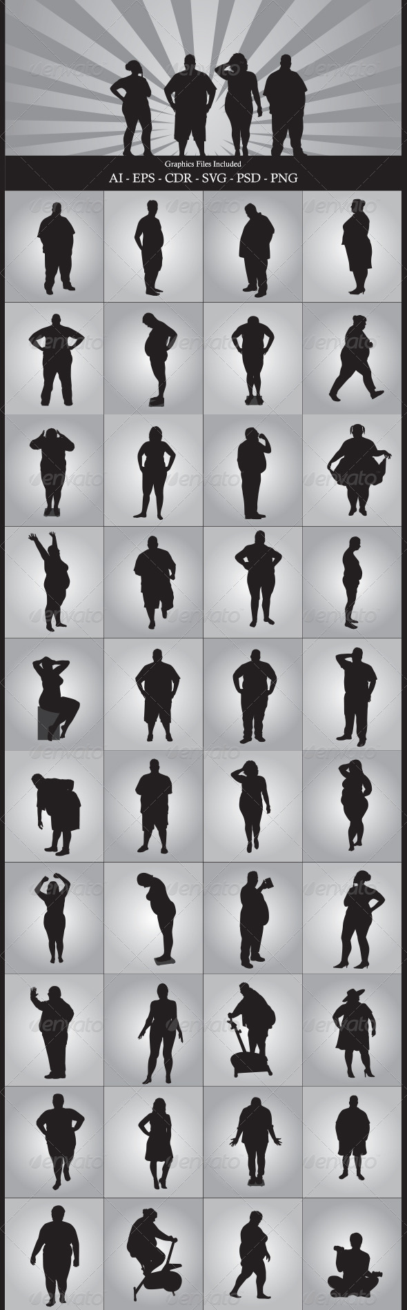 Fat People - People Characters