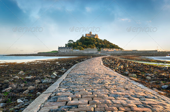 St Michael's Mount in Cornwall - Stock Photo - Images