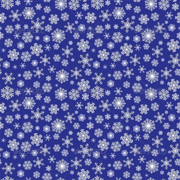 Background with Snowflakes - Christmas Seasons/Holidays