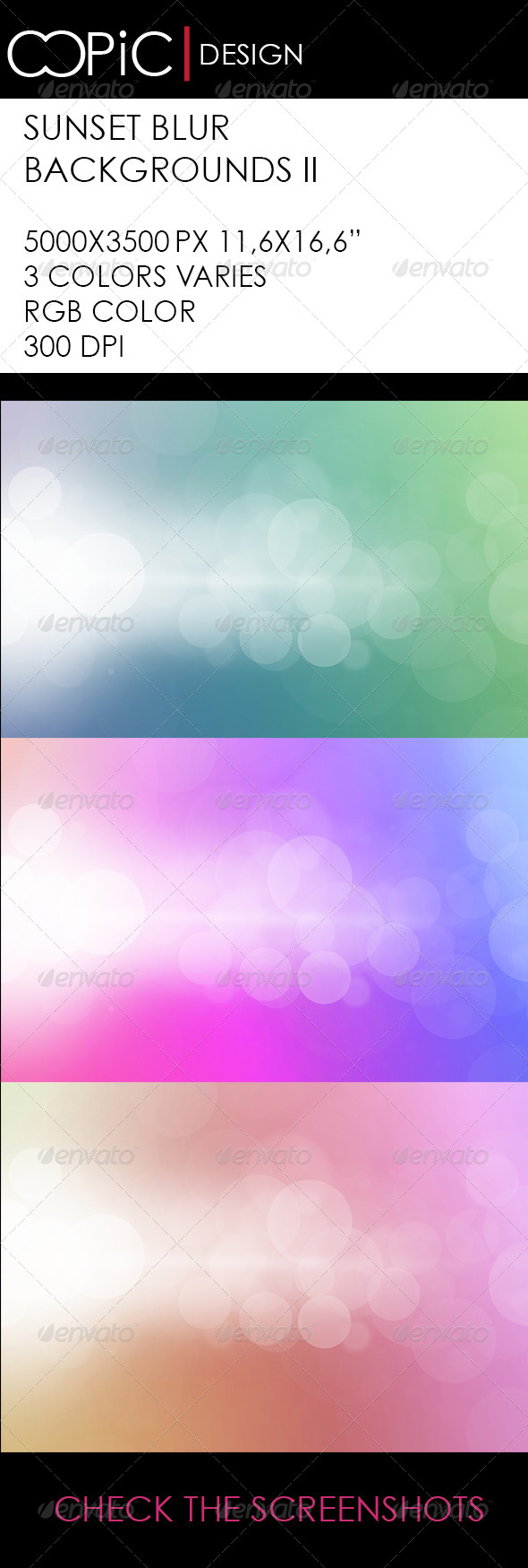 Sunset Blur Background II - Backgrounds Graphics
