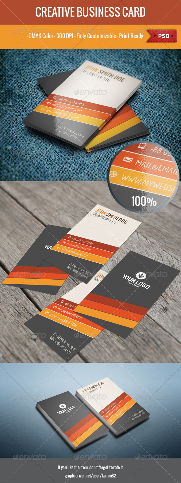 Vertical Business Card - Creative Business Cards