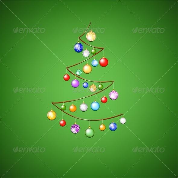 Christmas Ribbon Tree - Christmas Seasons/Holidays